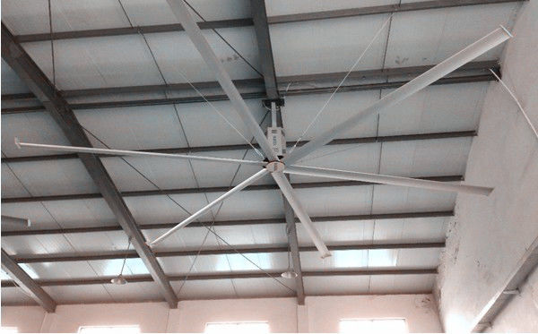 Aluminum Alloy Warehouse Ceiling Fans , Commercial Warehouse Fans For Air Cooling
